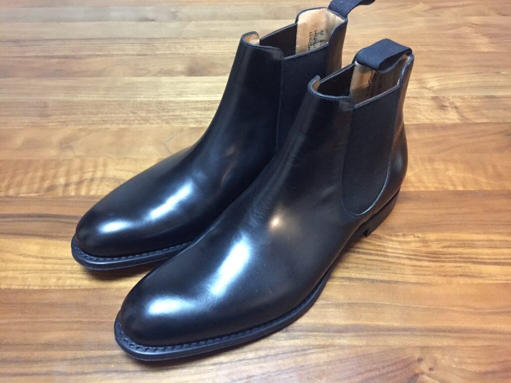 ポリッシュドバインダーカーフのブーツ