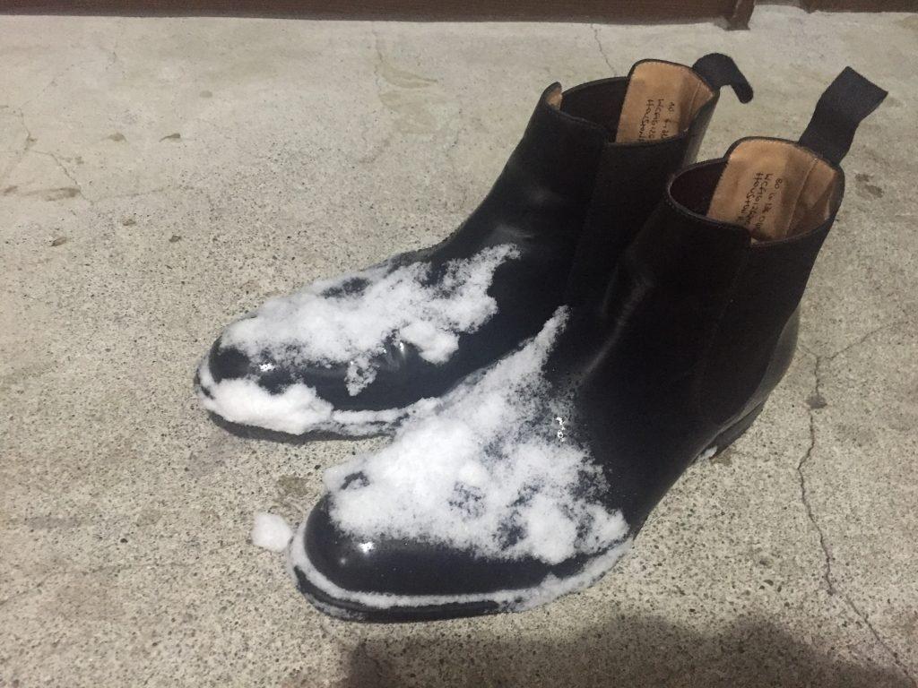 雪まみれのポリッシュドバインダー