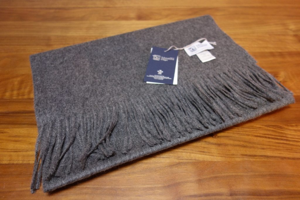 Johnstons of Elgin Solid Gray cashmere scarf