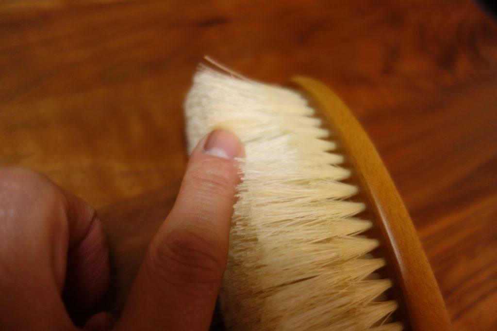 二段植毛の手触り