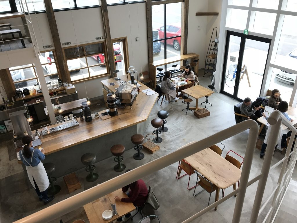 上から見たシロカフェ砂川本店