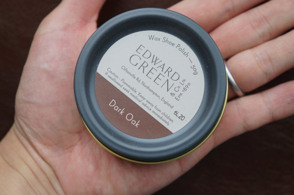edward green dark oak wax shoe polish
