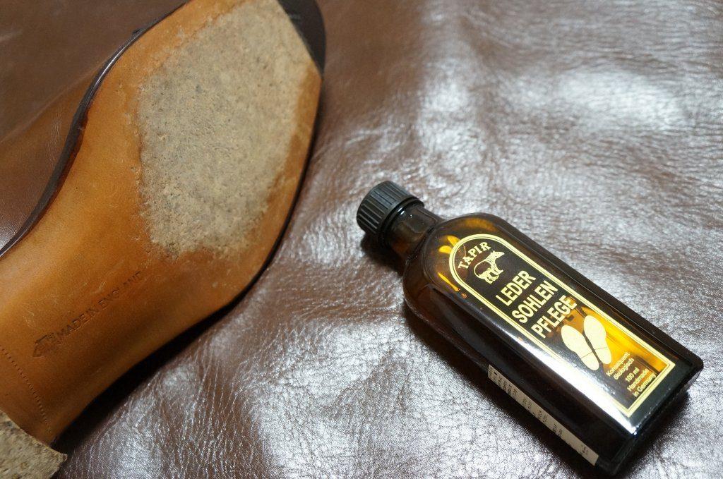 革底とタピール レザーソールオイル
