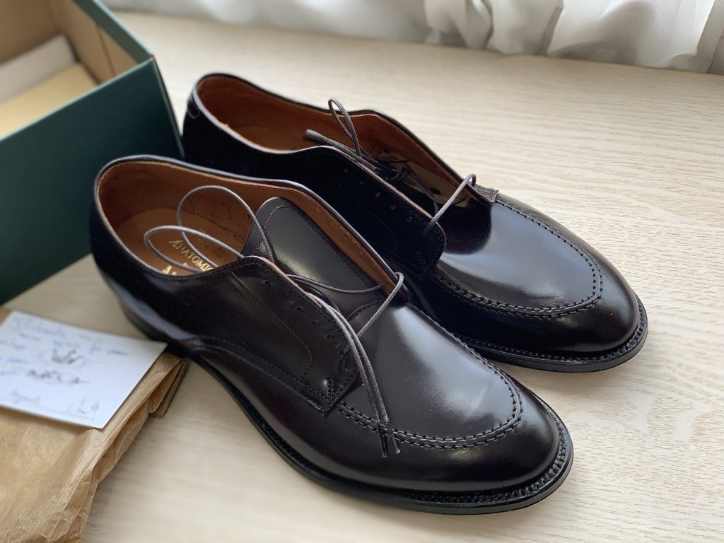 ALDEN Crown Stitch Derby Unlined Cordovan #8