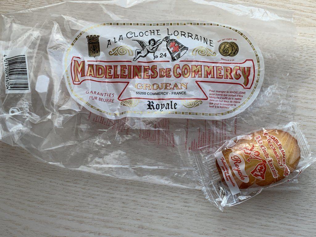 ギャラリーラファイエットで買える個包装のマドレーヌ