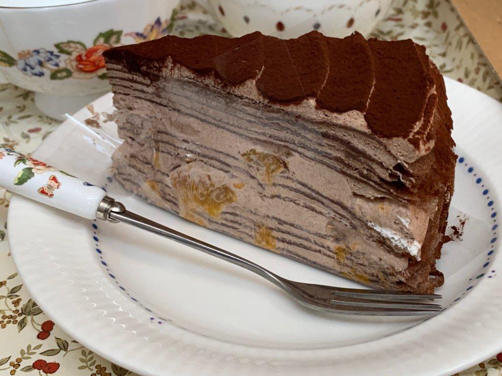 アトリエ シエリオンのチョコレートミルクレープ