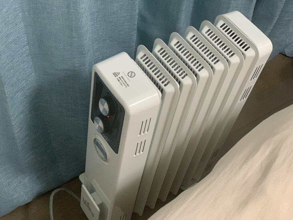 オイルフリーヒーターは寝室にピッタリ