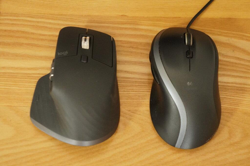ロジクール MX MASTER3 大きさの比較