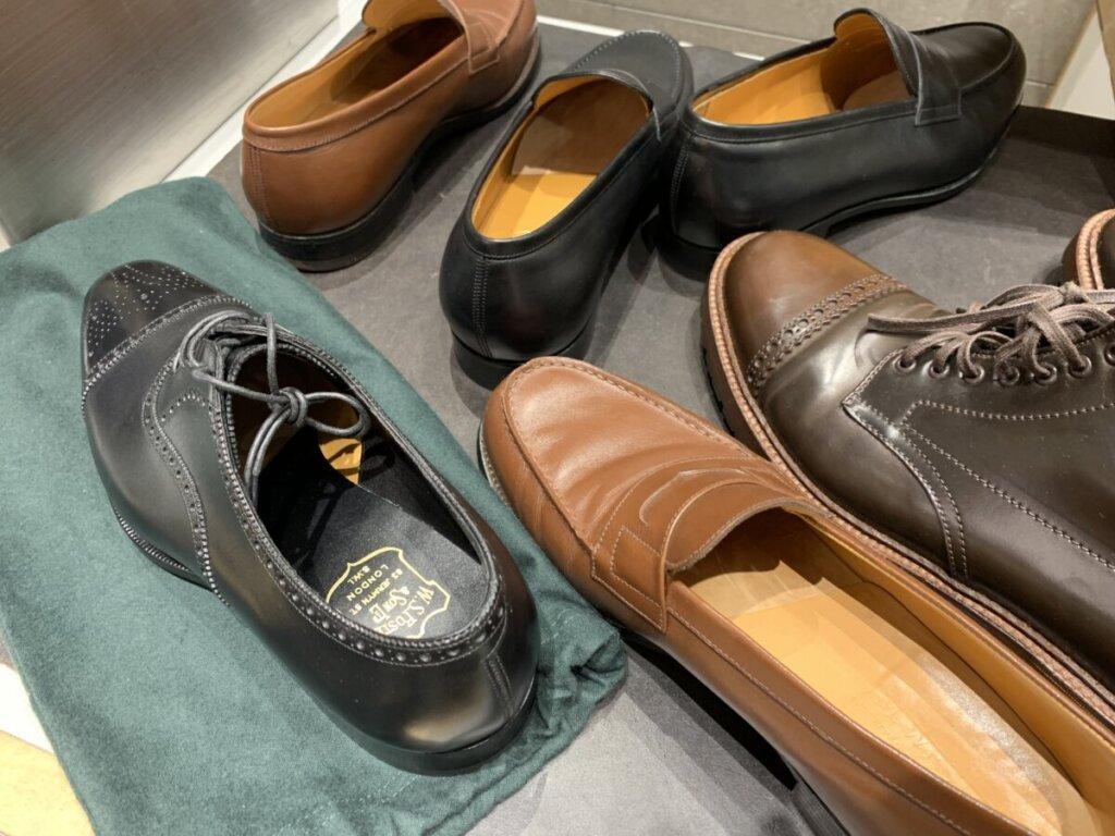 靴修理は引き取り前に確認をする。