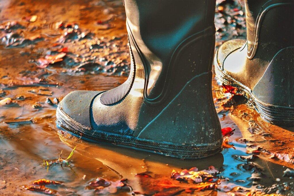 最強の雨靴は長靴。